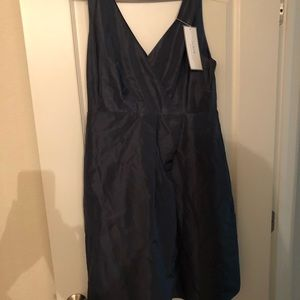 J crew silk moire dress size 18 with tags.